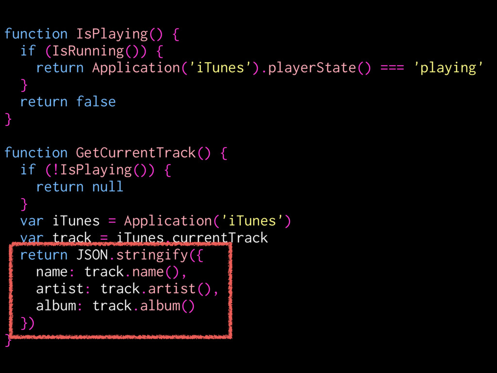 function IsPlaying() { if (IsRunning()) { retur...