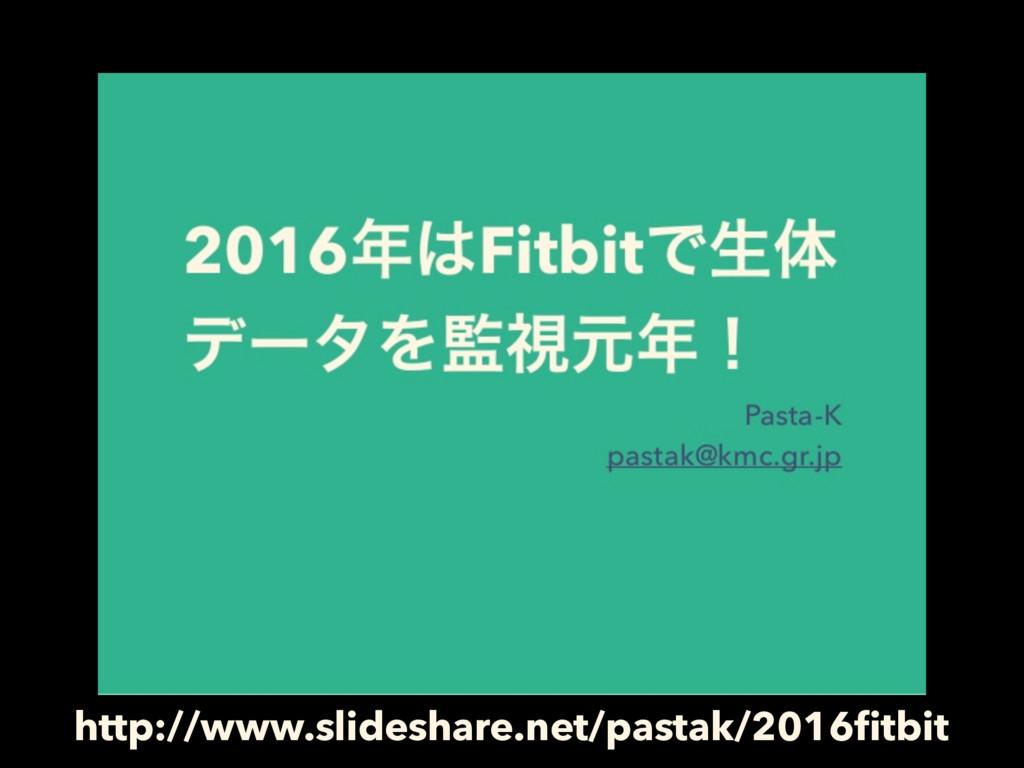 http://www.slideshare.net/pastak/2016fitbit