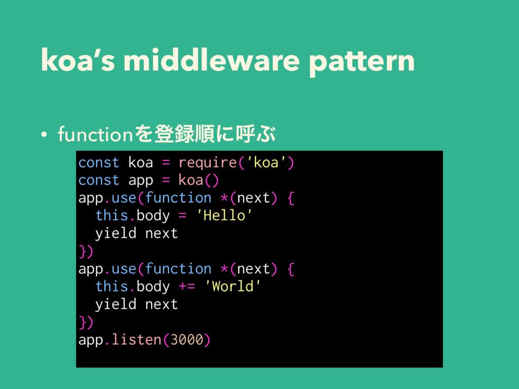 koa's middleware pattern • functionΛొॱʹݺͿ cons...