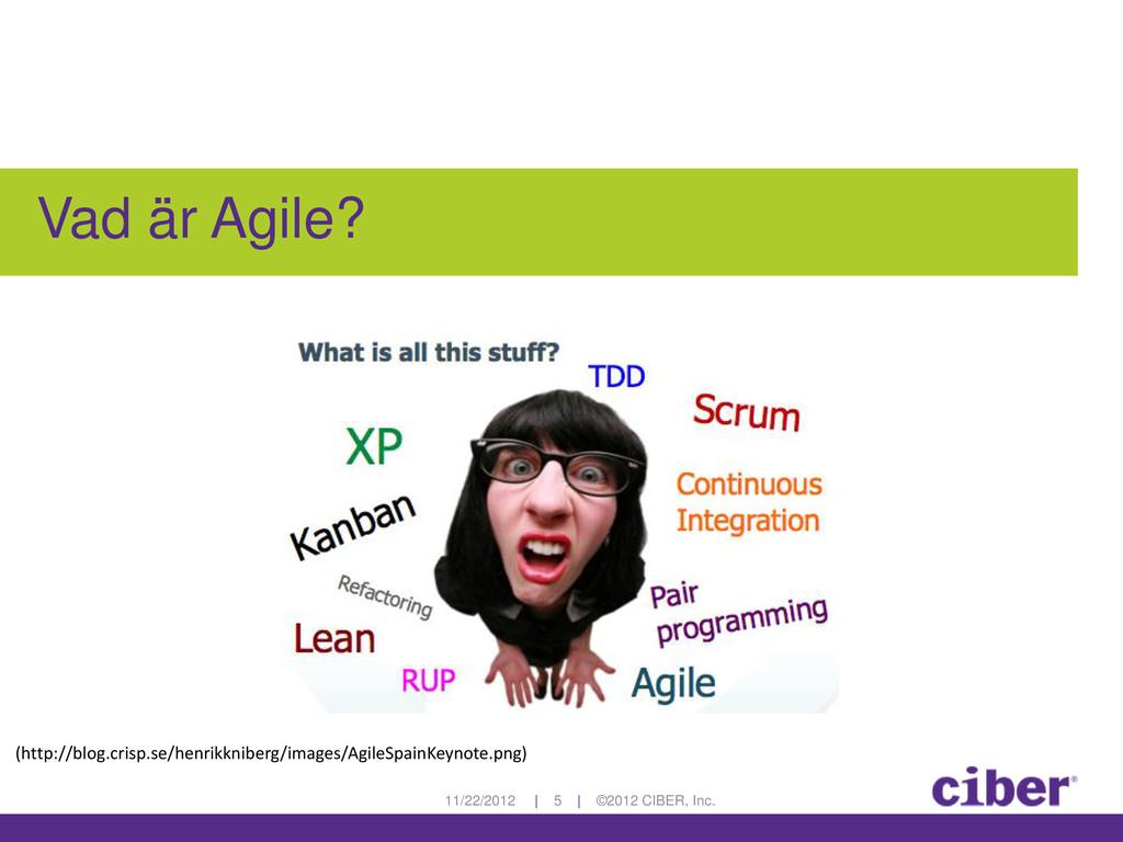 11/22/2012 | 5 | ©2012 CIBER, Inc. Vad är Agile...