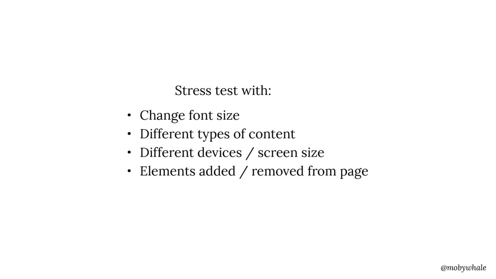 @mobywhale • Change font size • Different types...