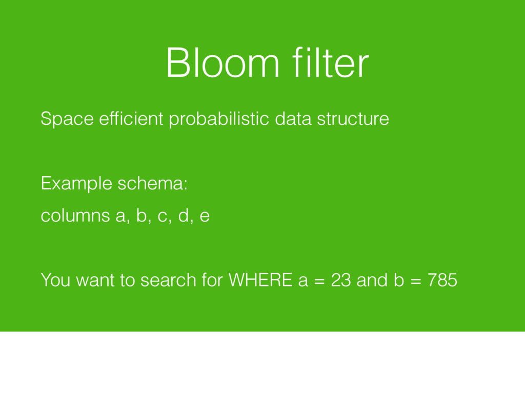 Bloom filter Space efficient probabilistic data s...