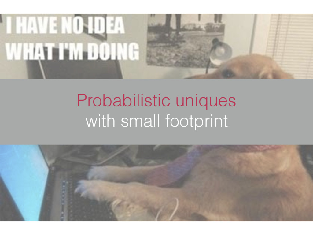 Probabilistic uniques with small footprint