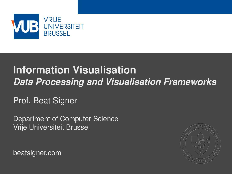 2 December 2005 Information Visualisation Data ...
