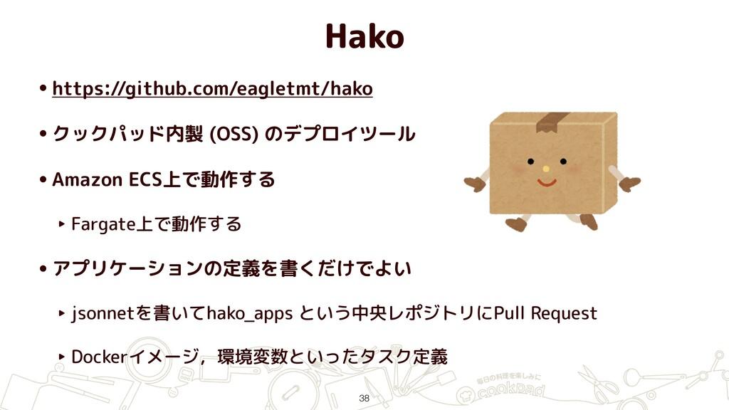 Hako •https://github.com/eagletmt/hako •クックパッド内...