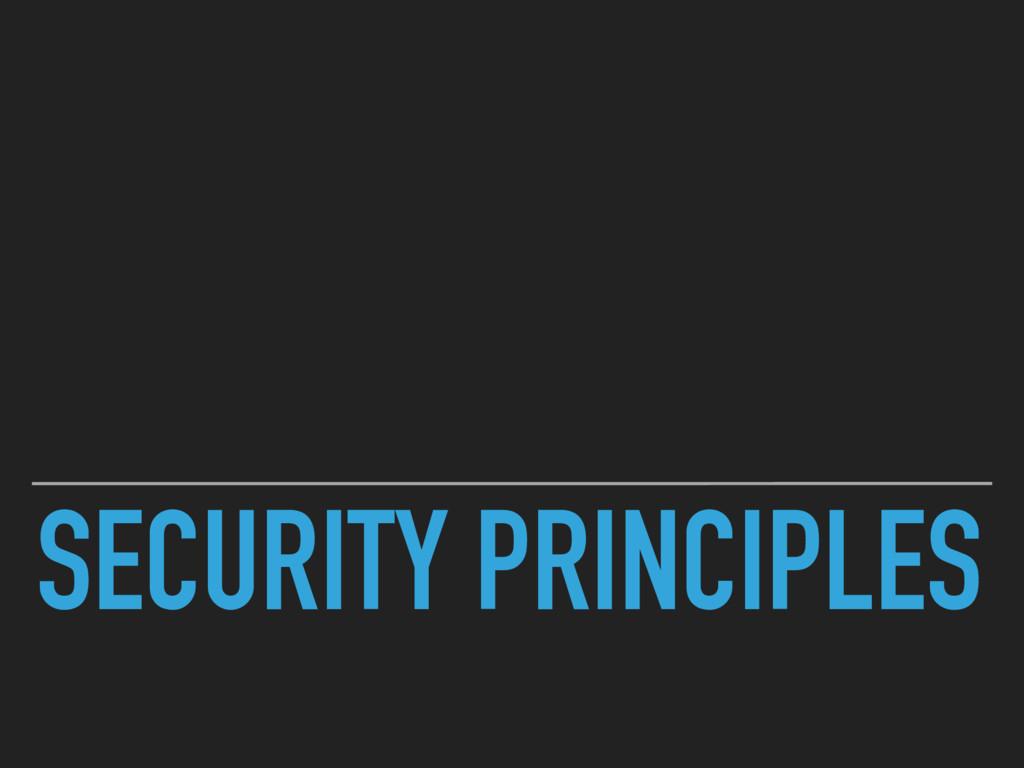 SECURITY PRINCIPLES
