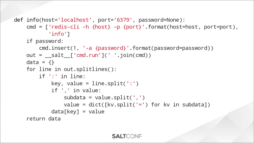 def info(host='localhost', port='6379', passwor...