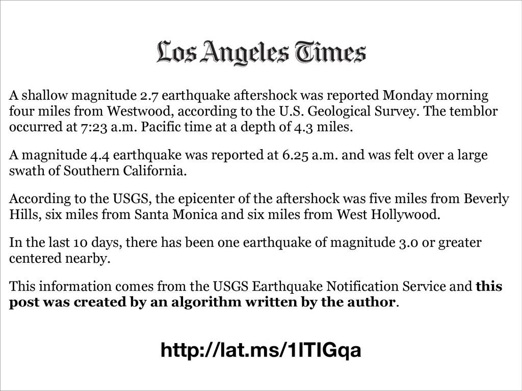 A shallow magnitude 2.7 earthquake aftershock w...