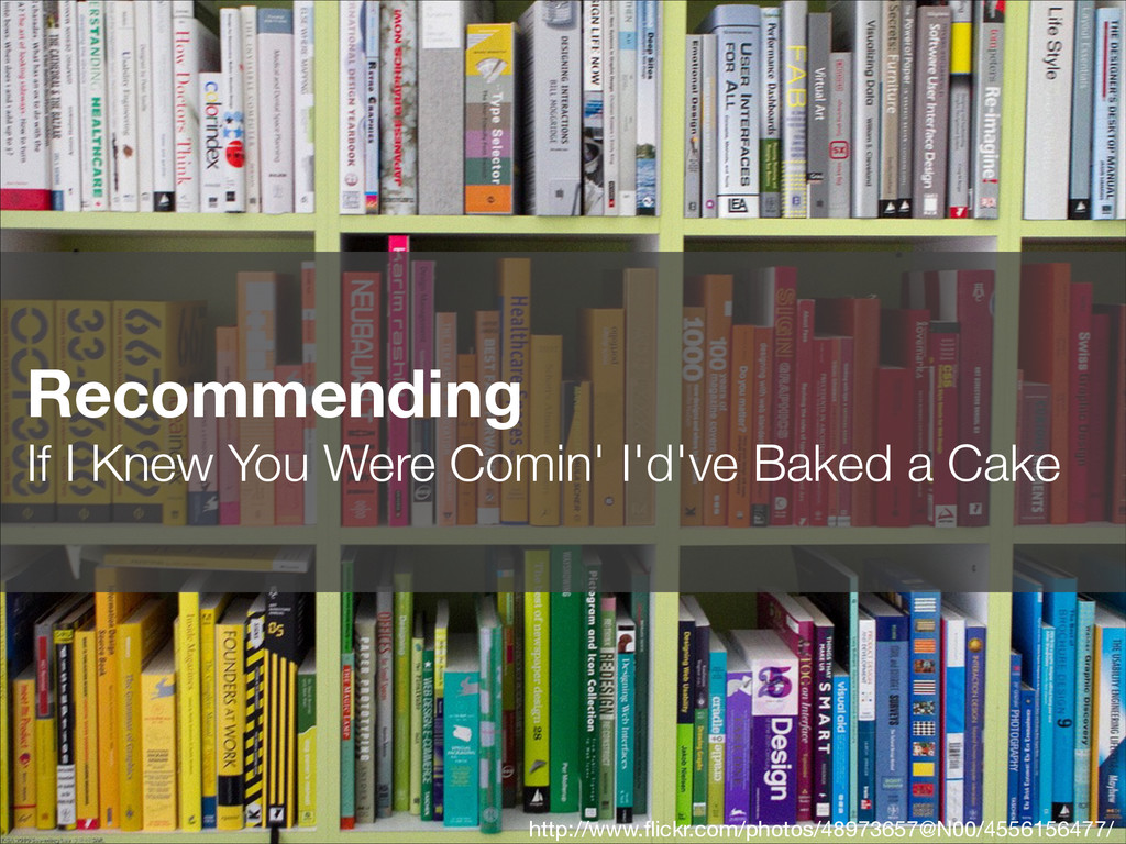 Recommending If I Knew You Were Comin' I'd've ...