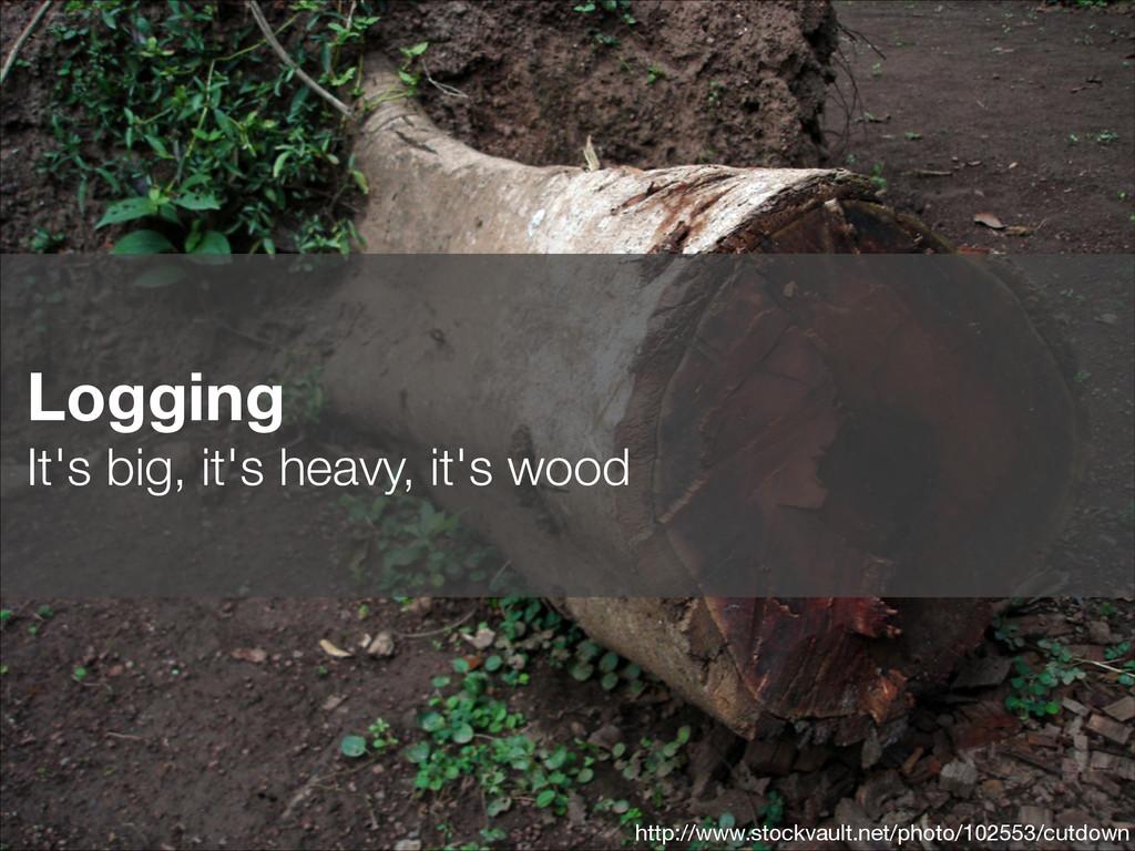 Logging It's big, it's heavy, it's wood http:/...