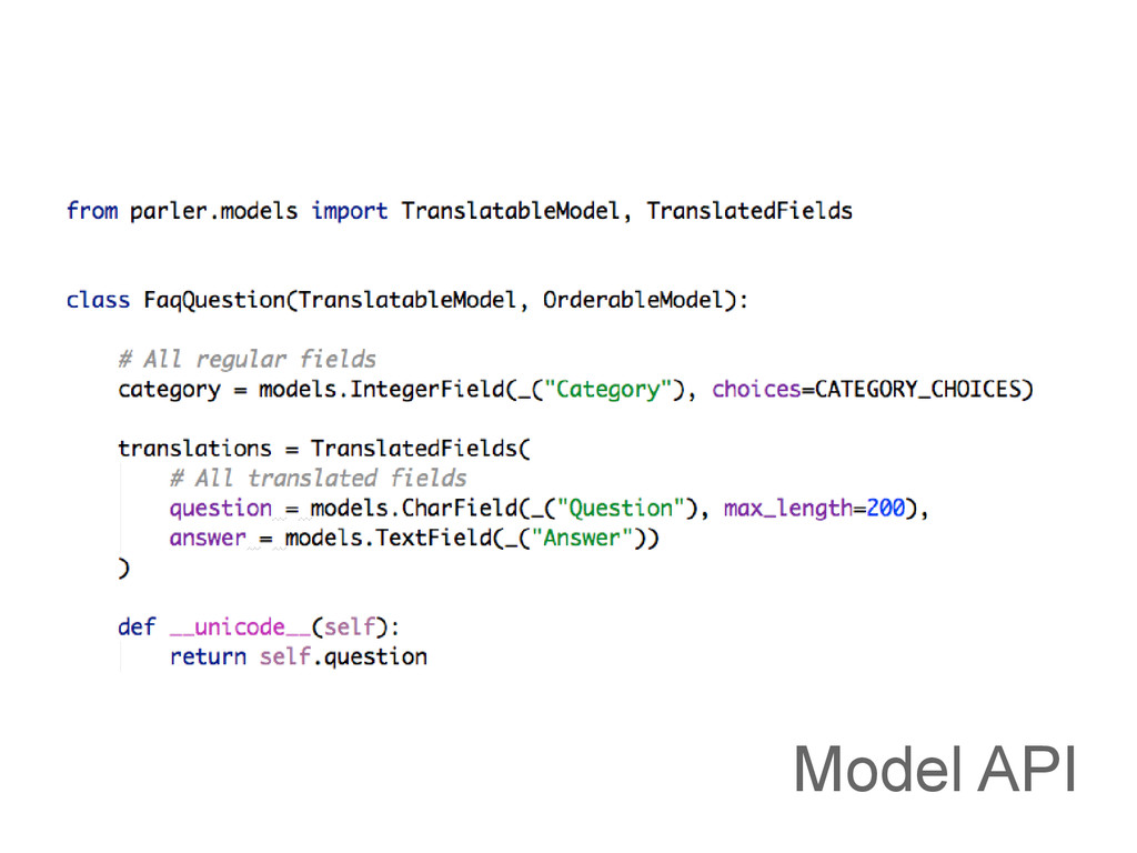 Model API