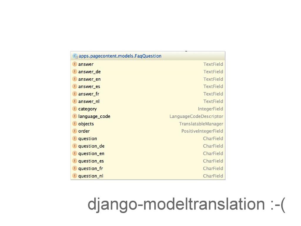 django-modeltranslation :-(