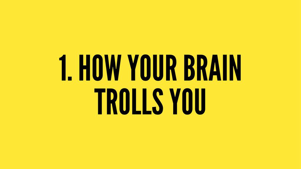 1. HOW YOUR BRAIN TROLLS YOU