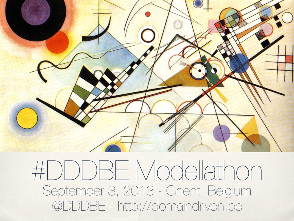 #DDDBE Modellathon September 3, 2013 - Ghent, B...
