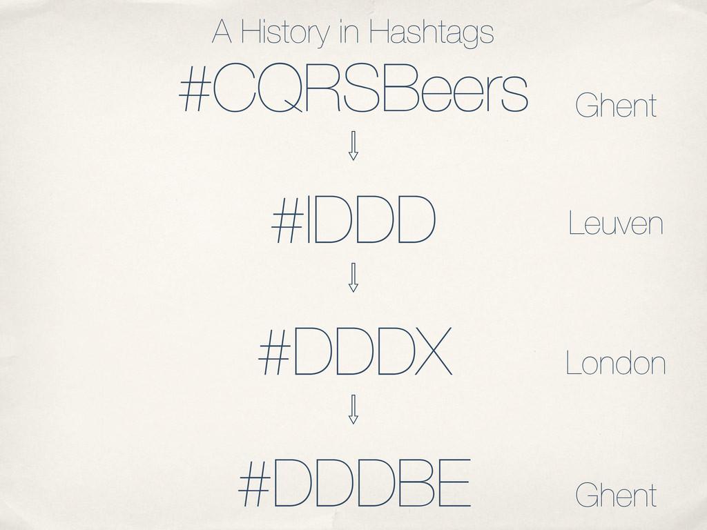 #CQRSBeers Ὃ #IDDD Ὃ #DDDX Ὃ #DDDBE A History i...