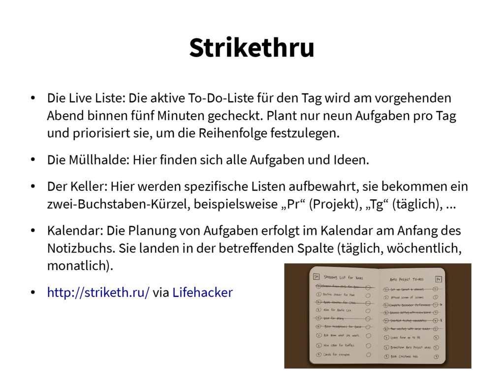 Strikethru ● Die Live Liste: Die aktive To-Do-L...