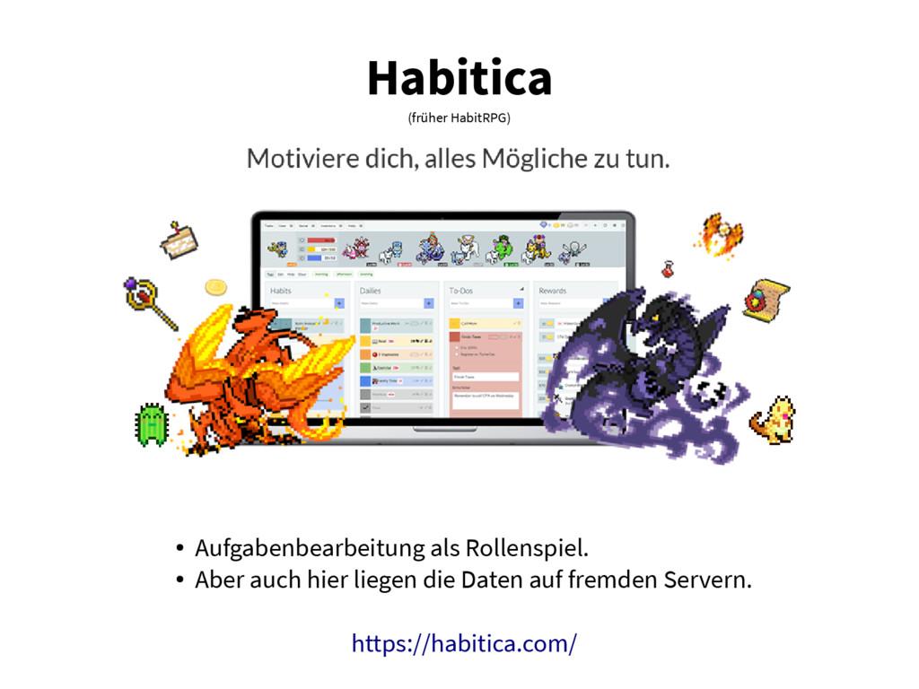 Habitica (früher HabitRPG) ● Aufgabenbearbeitun...