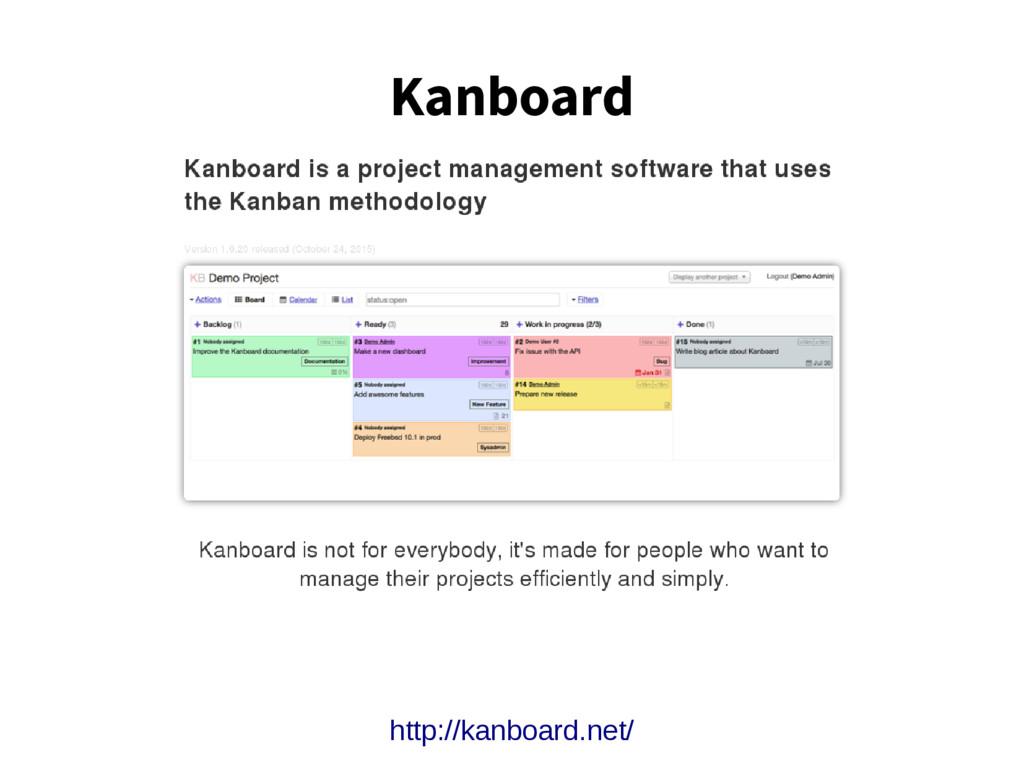 Kanboard http://kanboard.net/