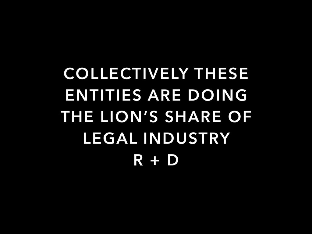 COLLECTIVELY THESE ENTITIES ARE DOING THE LION'...