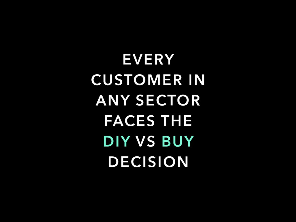 EVERY CUSTOMER IN ANY SECTOR FACES THE DIY VS B...