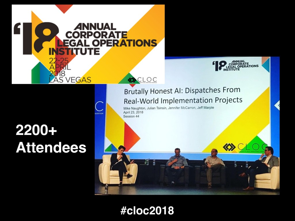 #cloc2018 2200+ Attendees