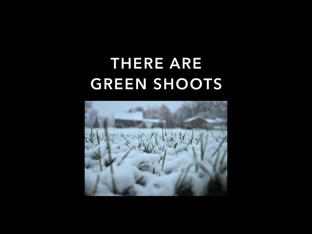 THERE ARE GREEN SHOOTS