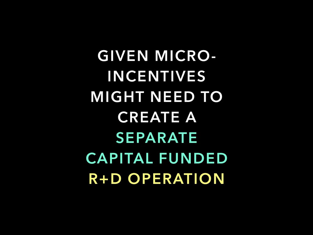 GIVEN MICRO- INCENTIVES MIGHT NEED TO CREATE A ...