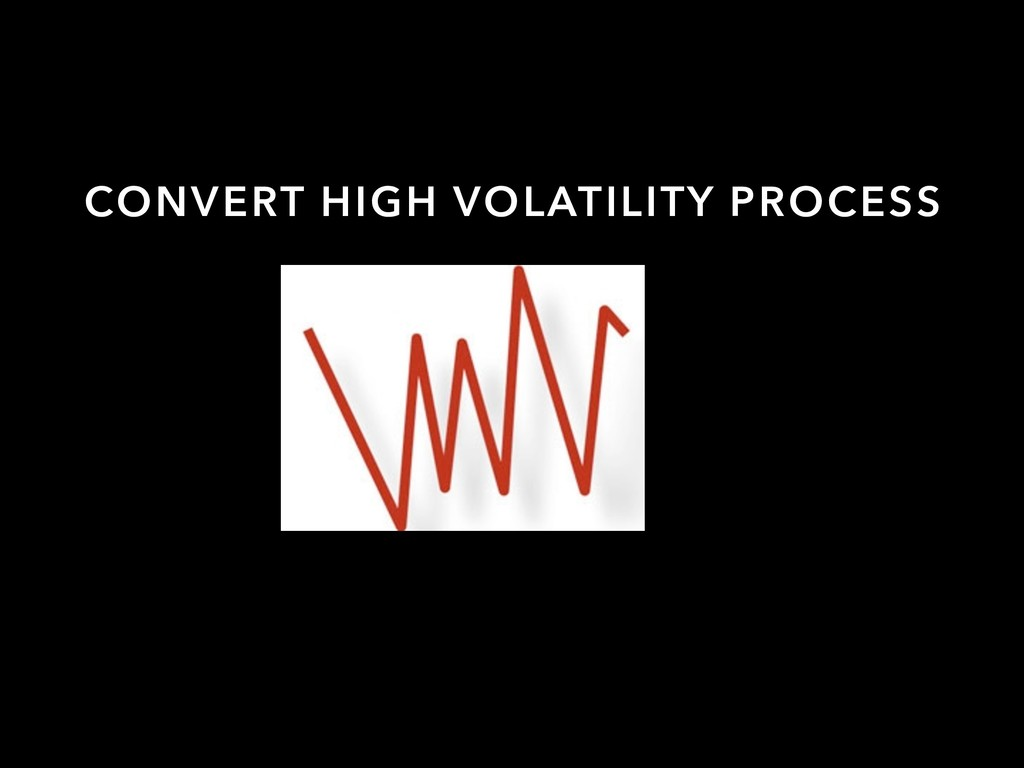 CONVERT HIGH VOLATILITY PROCESS