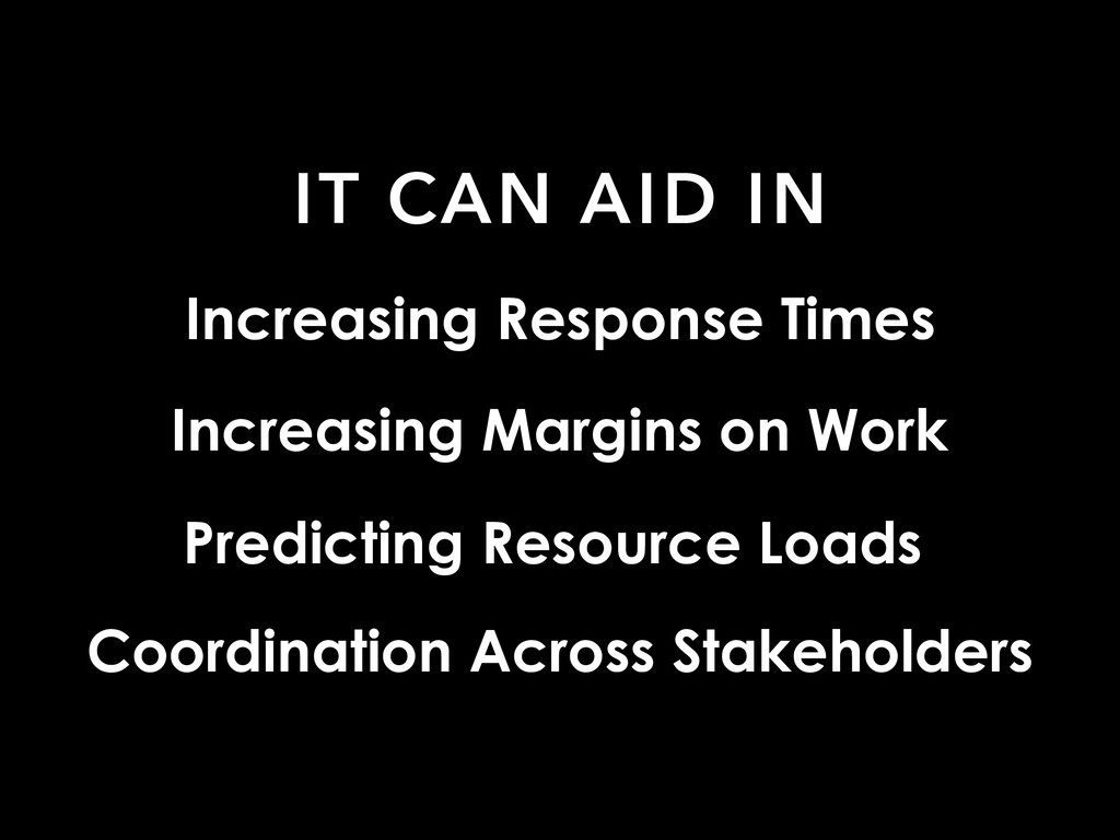 IT CAN AID IN Increasing Response Times Predict...