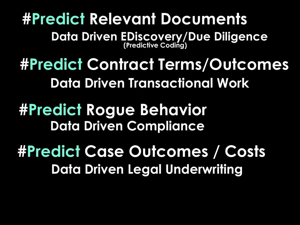 #Predict Relevant Documents #Predict Case Outco...