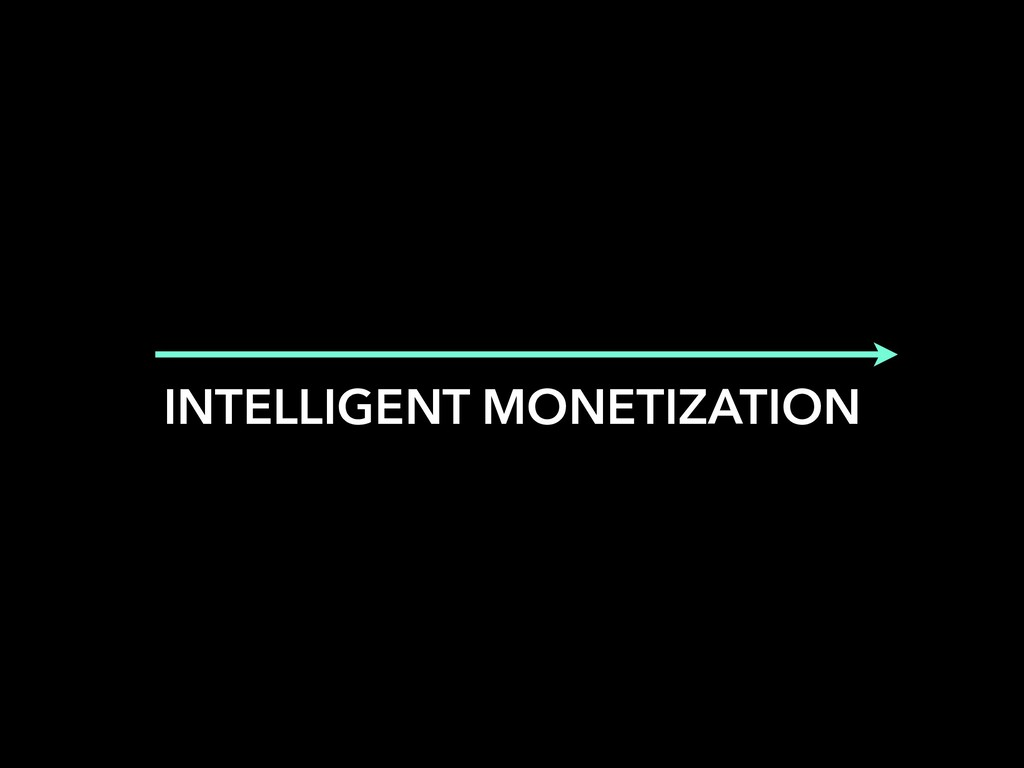 INTELLIGENT MONETIZATION