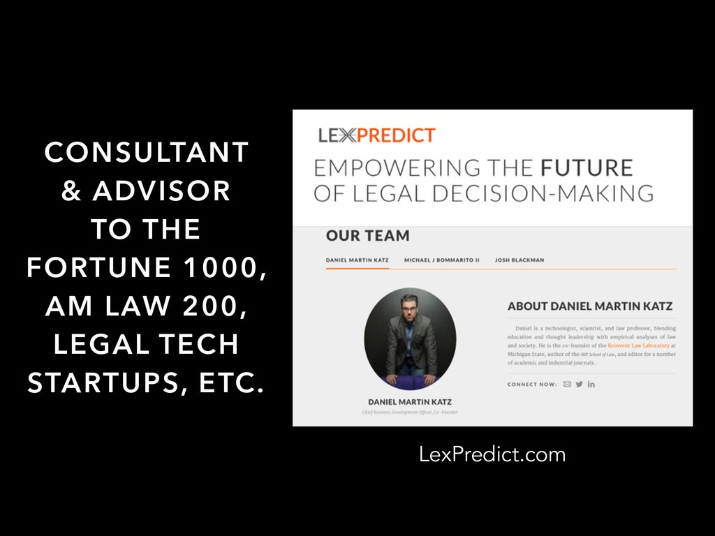 LexPredict.com CONSULTANT & ADVISOR TO THE FORT...
