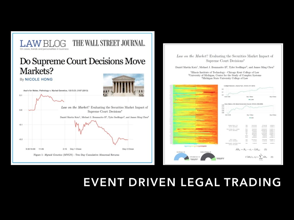 EVENT DRIVEN LEGAL TRADING