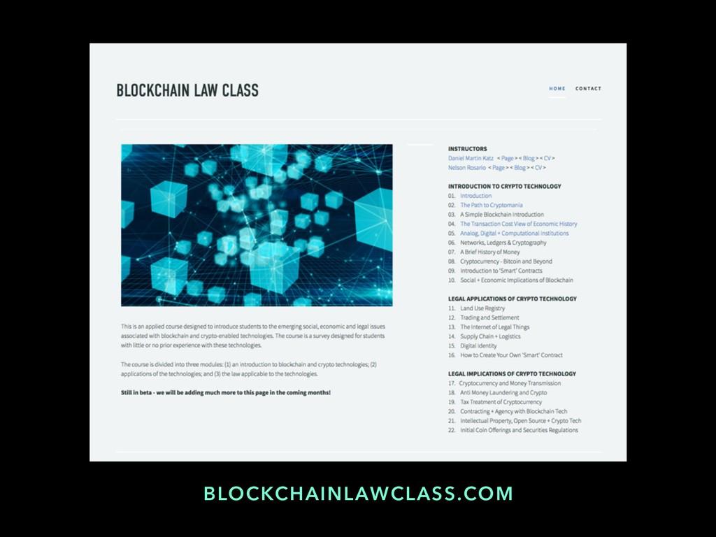 BLOCKCHAINLAWCLASS.COM