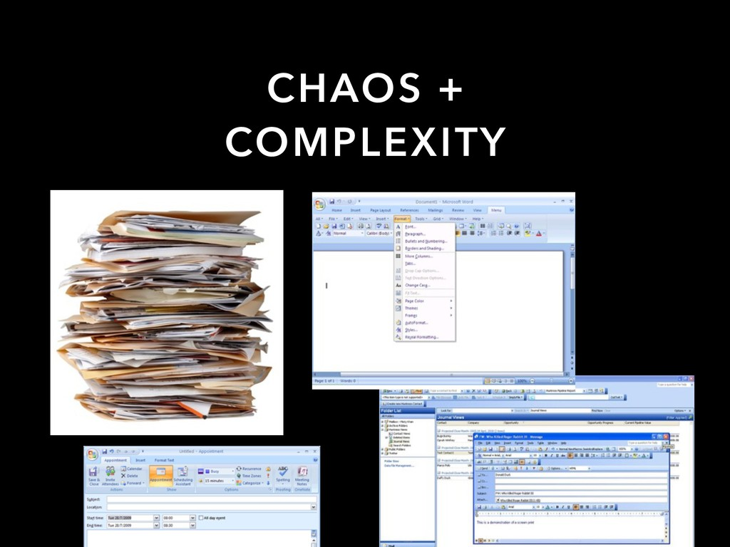 CHAOS + COMPLEXITY