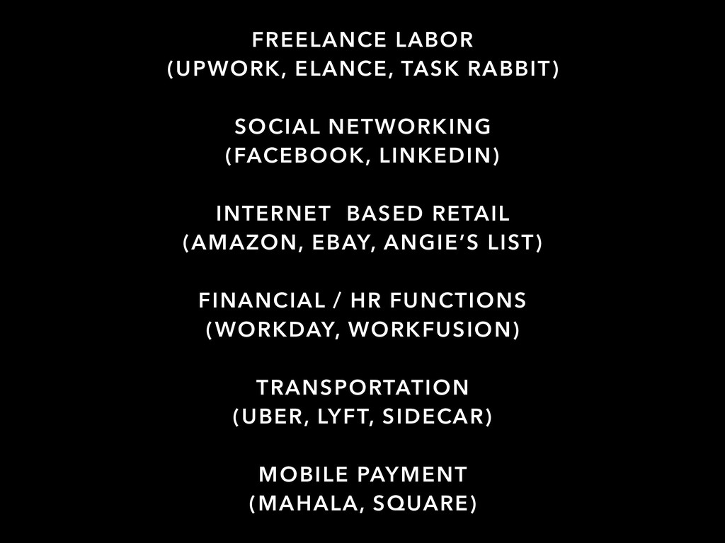 FREELANCE LABOR (UPWORK, ELANCE, TASK RABBIT) S...