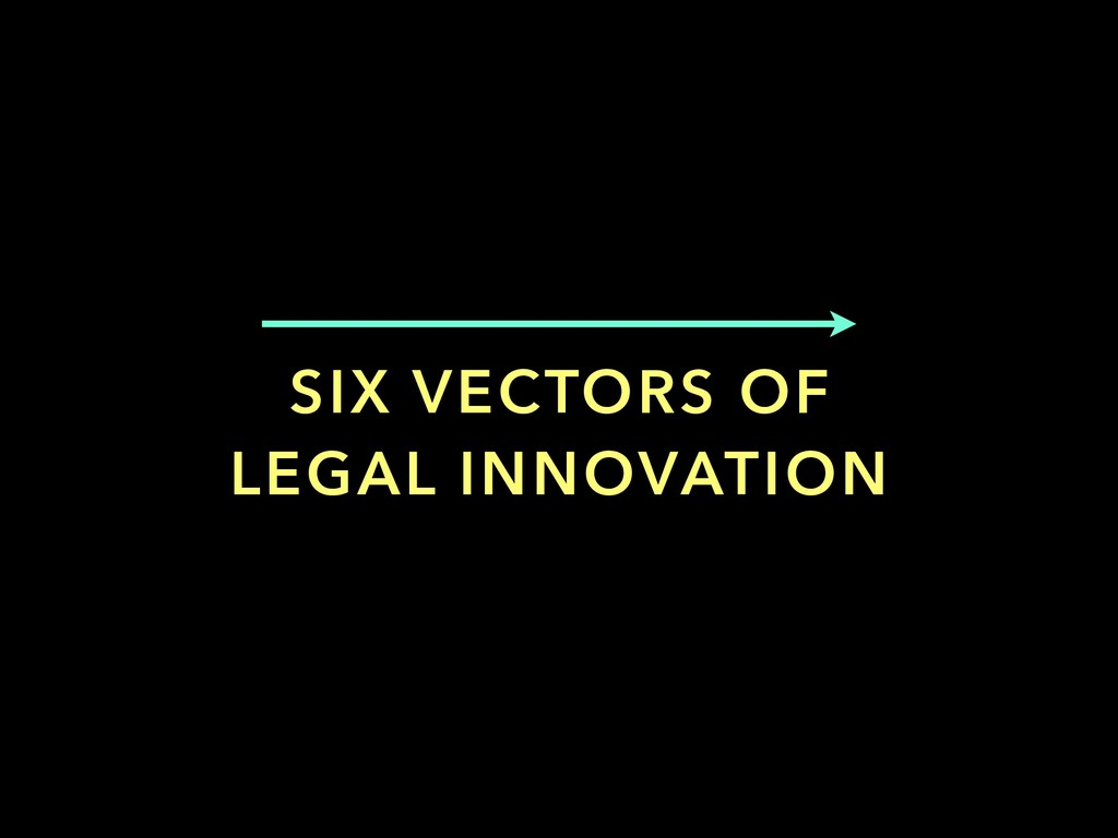 SIX VECTORS OF LEGAL INNOVATION