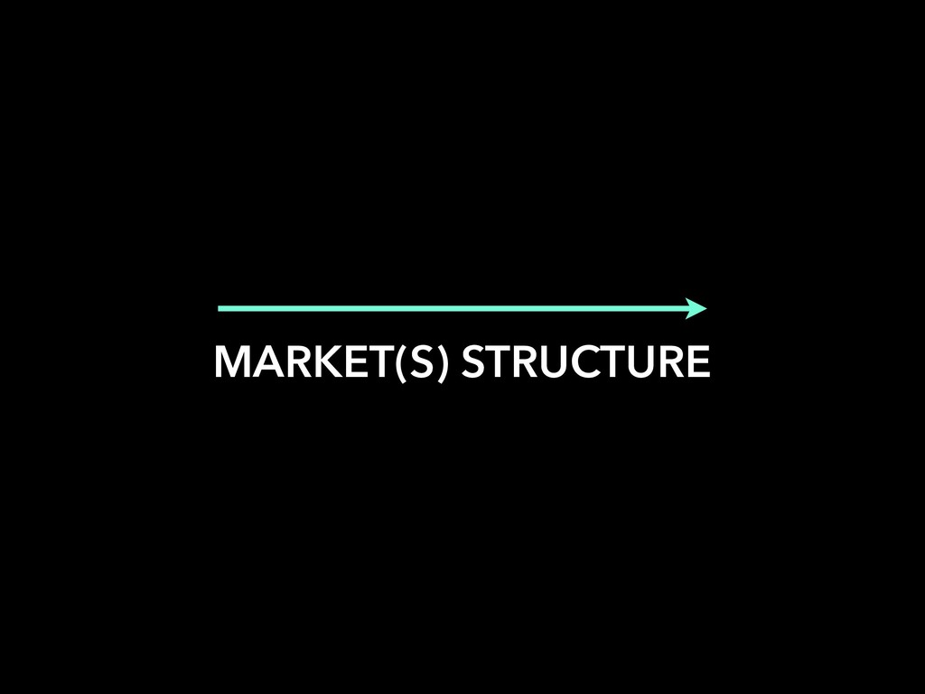 MARKET(S) STRUCTURE