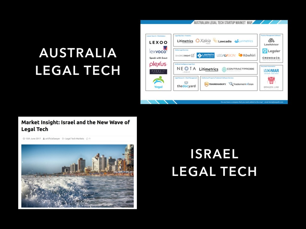 AUSTRALIA LEGAL TECH ISRAEL LEGAL TECH