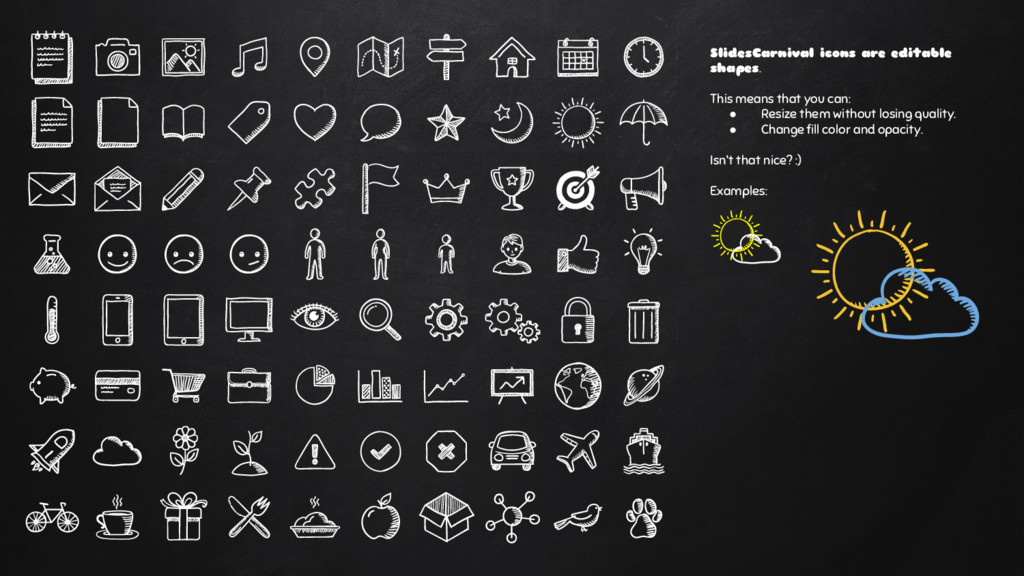 SlidesCarnival icons are editable shapes. This ...