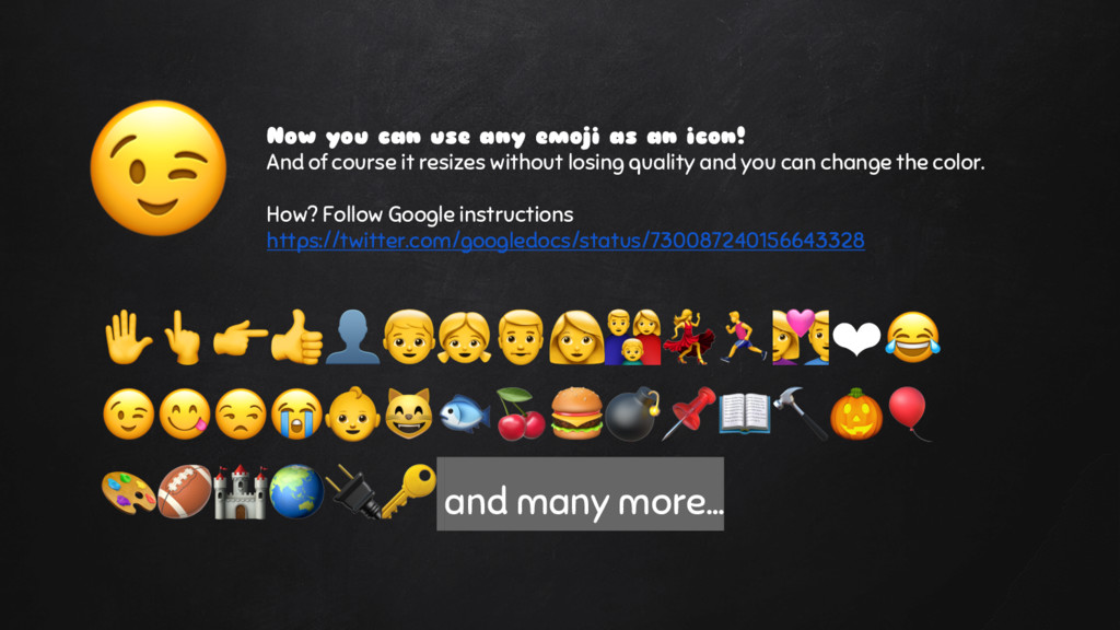 Now you can use any emoji as an icon! And of co...