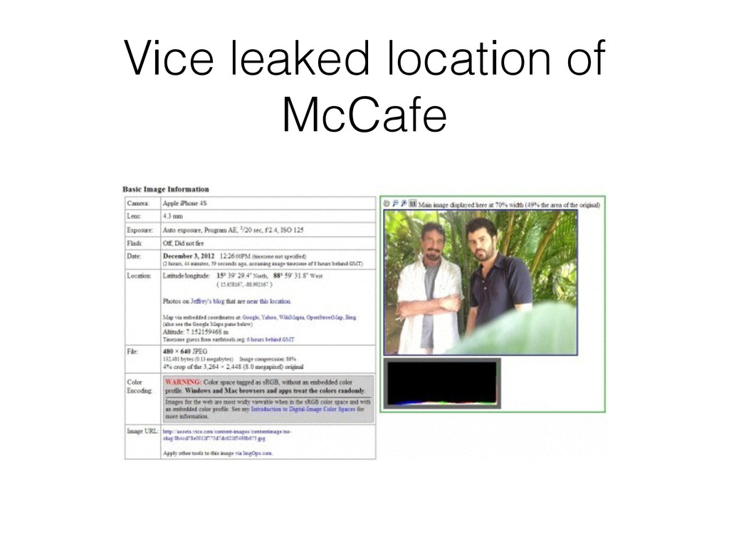 Vice leaked location of McCafe