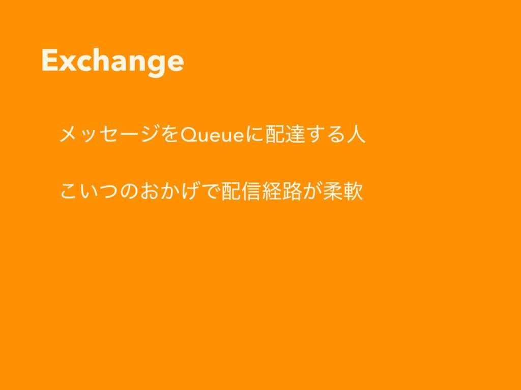 Exchange ϝοηʔδΛQueueʹୡ͢Δਓ ͍ͭ͜ͷ͓͔͛Ͱ৴ܦ࿏͕ॊೈ