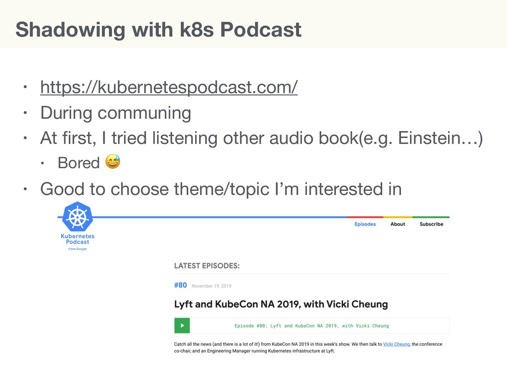 Shadowing with k8s Podcast • https://kubernetes...