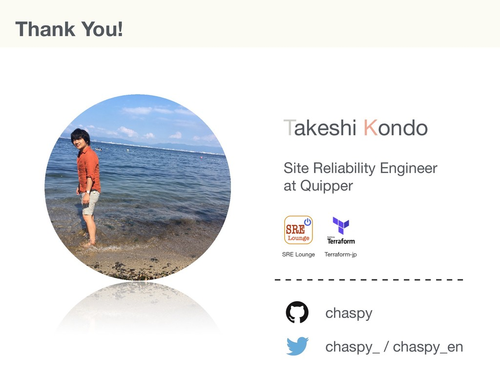 Thank You! chaspy chaspy_ / chaspy_en Site Reli...