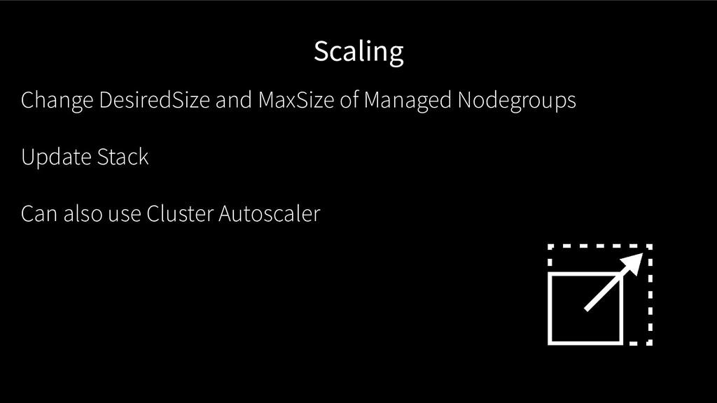 Scaling Change DesiredSize and MaxSize of Manag...