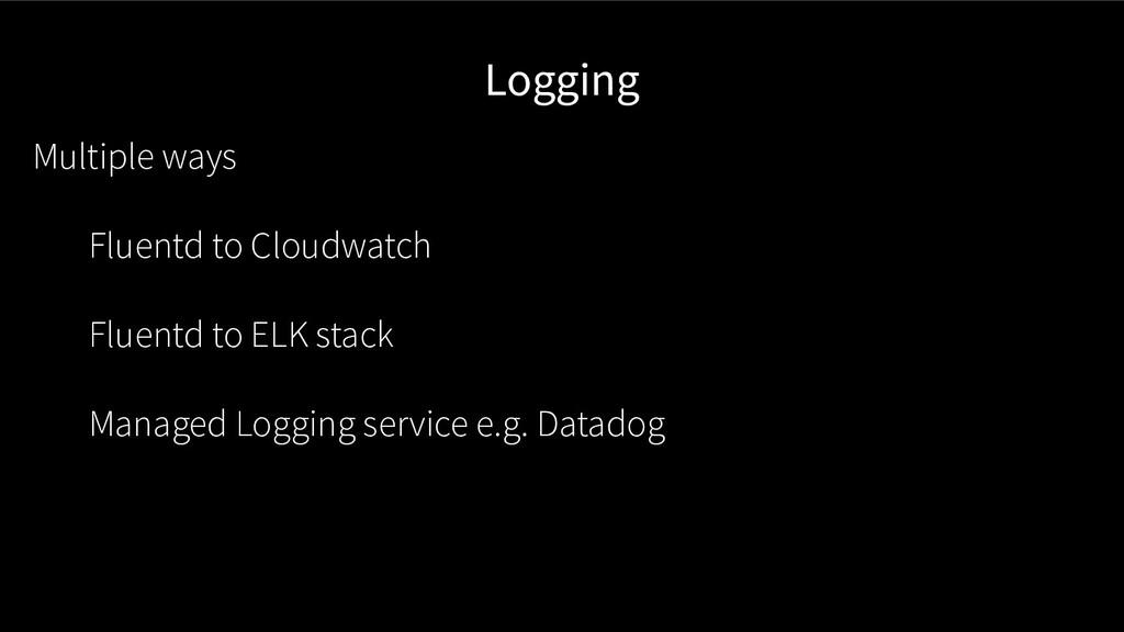 Logging Multiple ways Fluentd to Cloudwatch Flu...