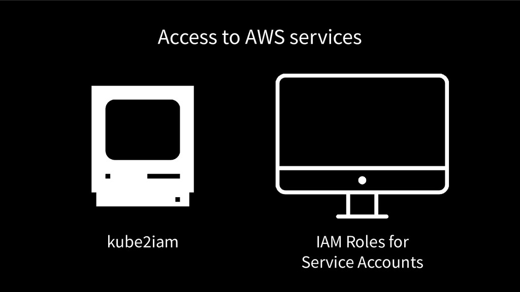 Access to AWS services kube2iam IAM Roles for S...