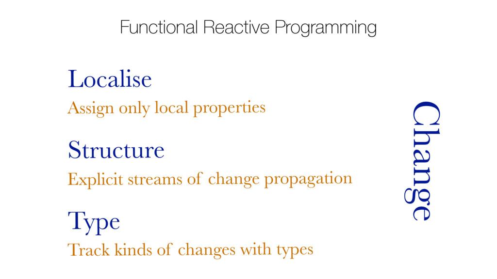 Functional Reactive Programming Localise Change...