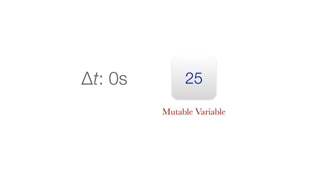 25 Δt: 0s Mutable Variable
